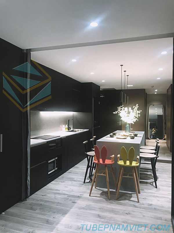mẫu thiết kế tủ bếp đẹp sang trọng đẳng cấp cho căn hộ cao cấp