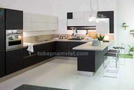 thiết kế bếp hiện đại từ gỗ công nghiệp tphcm