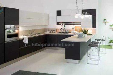 Mẫu thiết kế bếp hiện đại từ gỗ công nghiệp TPHCM LM-1067