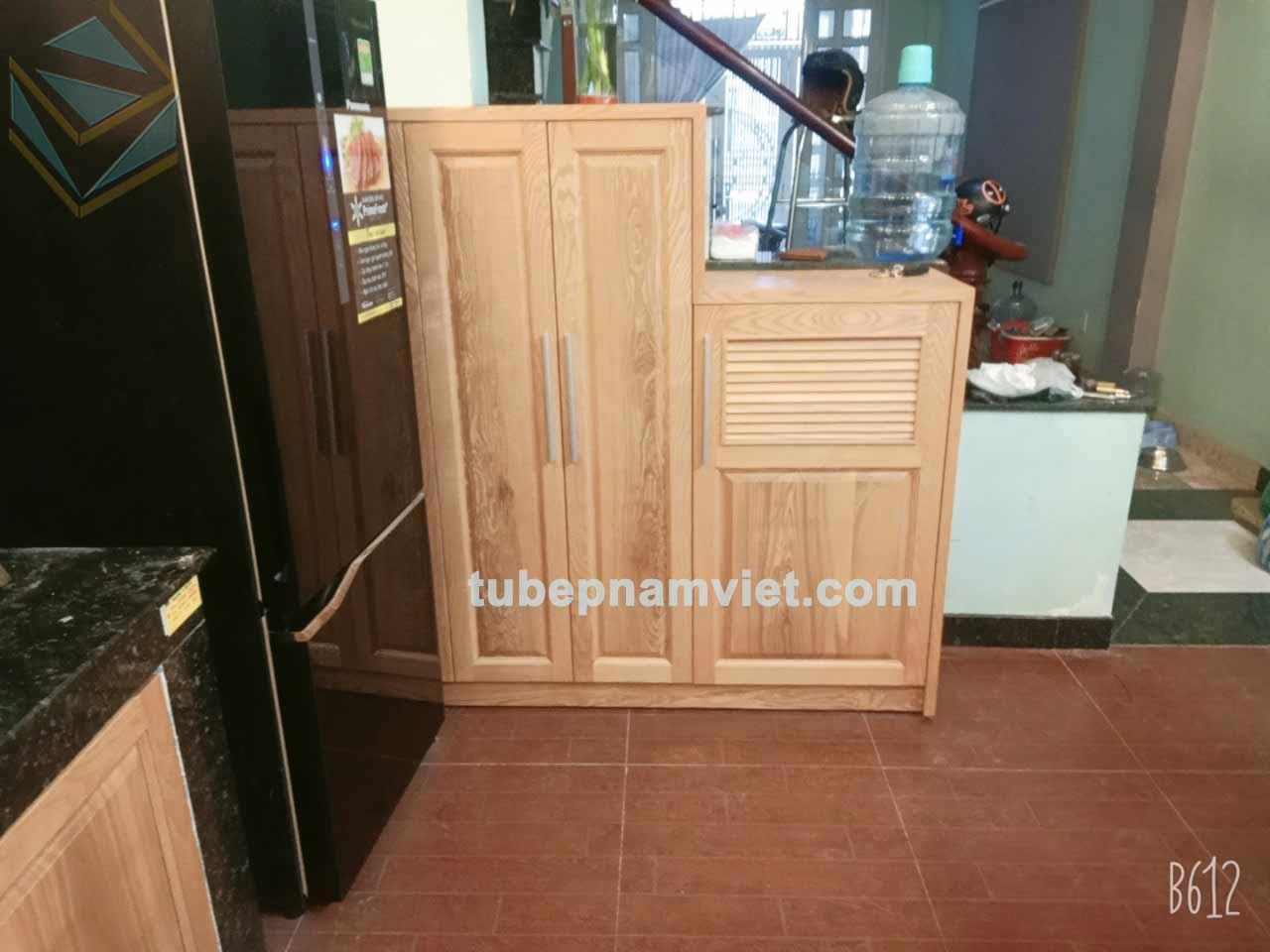tủ đồ khô thuộc công trình-thi-công tủ bếp gỗ tần bì quận Tân Phú