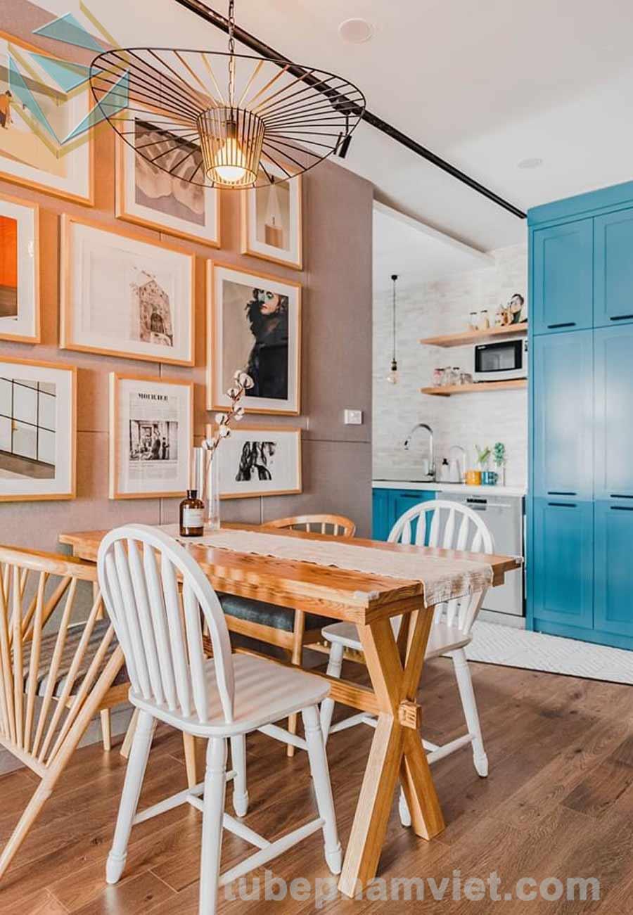 thiết kế mẫu tủ bếp gỗ sồi đẹp hiện đại