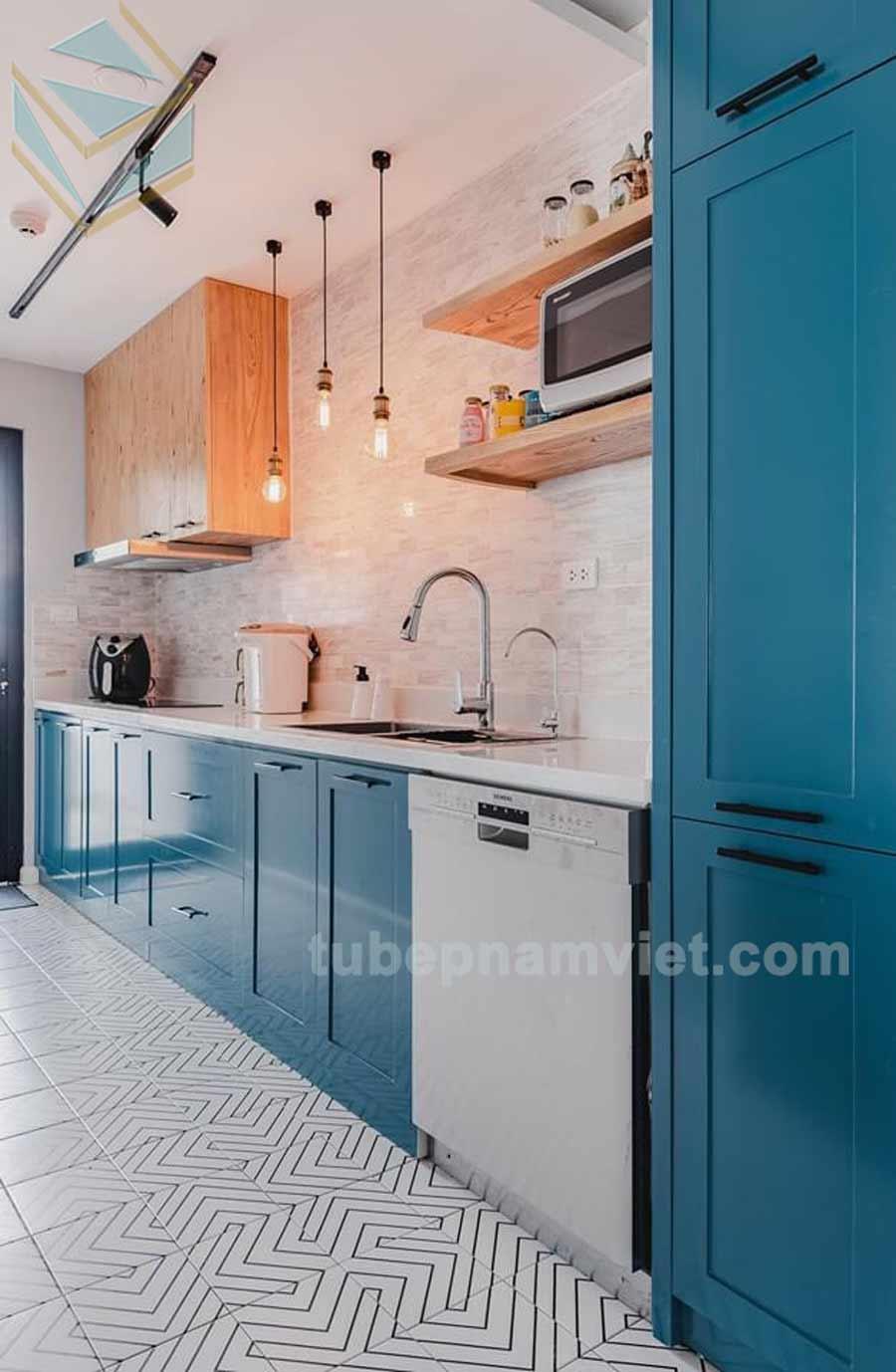 mẫu thiết kế tủ bếp gỗ sồi nga đẹp