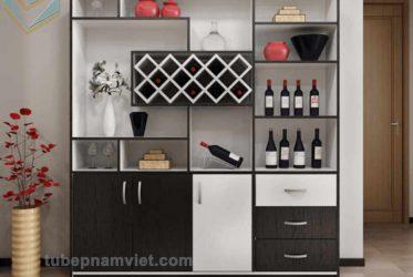 Mẫu tủ rượu đẹp gỗ công nghiệp giá rẻ phù hợp với nhiều gia đình