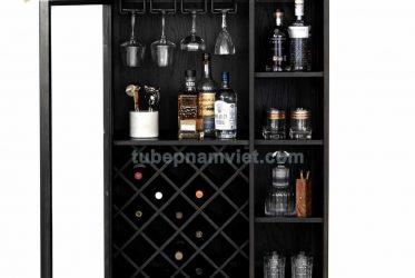 Mẫu tủ rượu gỗ đẹp đơn giản tinh tế nên sắm nhất
