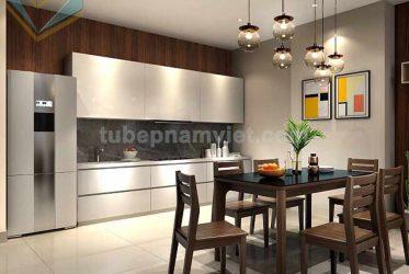 Mẫu tủ bếp Acrylic chữ I đẹp giá tốt cho căn hộ chung cư TPHCM