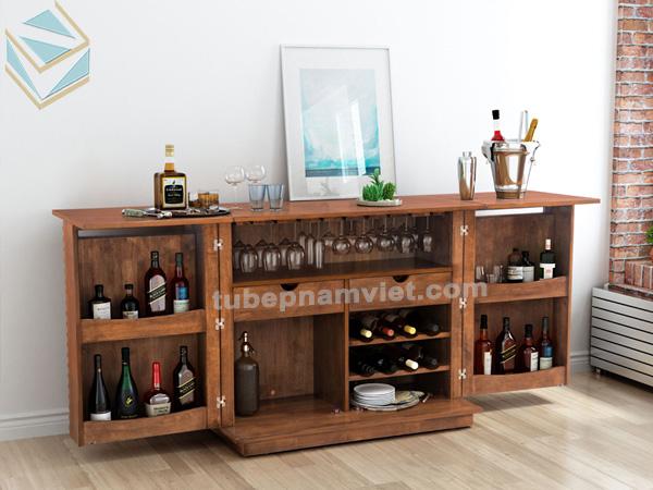 Mẫu tủ rượu gỗ Sồi Nga đẹp