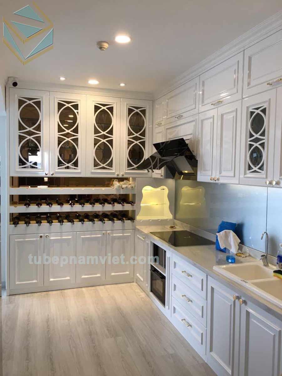 Nhận thi công tủ rượu nhà bếp đẹp giá tốt tại TPHCM