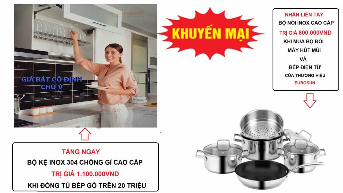 chương trình ưu đãi quà tặng tháng 9 và Tháng 10/2020 khi đóng bếp tại Nam Việt