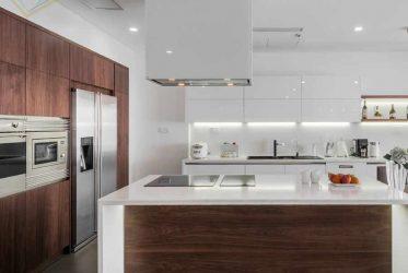Mẫu thi công nội thất bếp hiện đại cho căn hộ cao cấp Quận 7 TPHCM