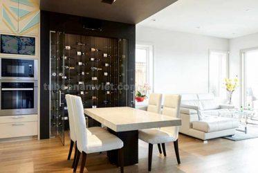 Mẫu thiết kế tủ rượu âm tường bằng kính đẹp sang trọng TR-2012