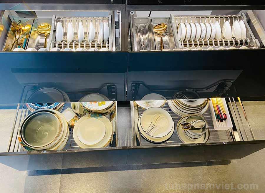 Nguyên lý sắp xếp các vật dụng nhà bếp đẹp và sang