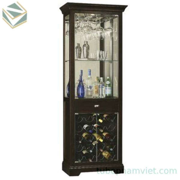 Tủ rượu kính nhỏ cổ điển phòng khách