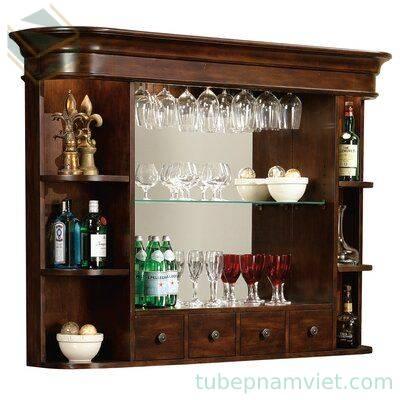 Mẫu tủ rượu gỗ treo tường đẹp sang trọng TR-2021