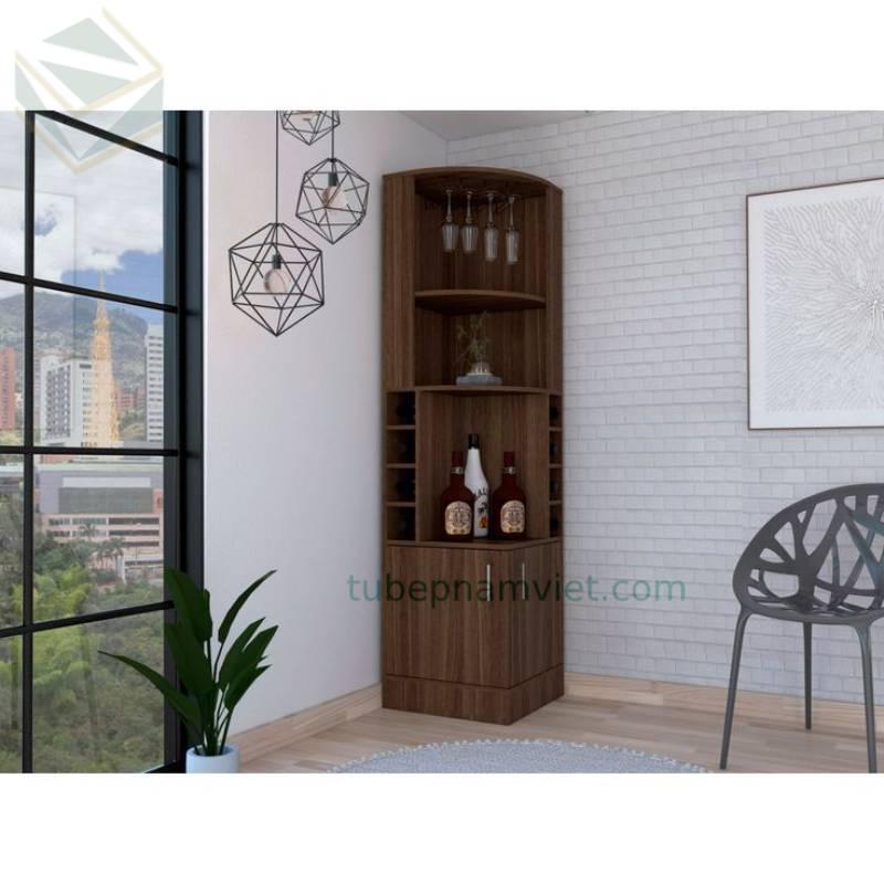 Mẫu tủ rượu mini phòng khách giá rẻ gỗ công nghiệp tại TPHCM