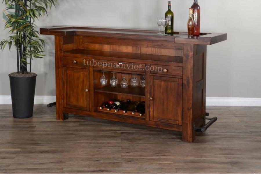 Mẫu tủ rượu mini phòng khách đẹp sang trọng giá tốt