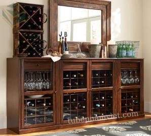 tủ rượu gỗ sang trọng
