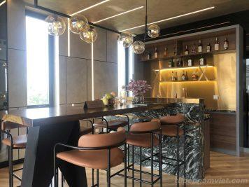 Nhận thiết kế và thi công quầy bar quán rượu mini giá tốt