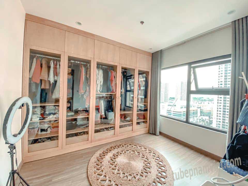 Mẫu tủ gỗ phòng quần áo đẹp dành cho căn hộ chung cư