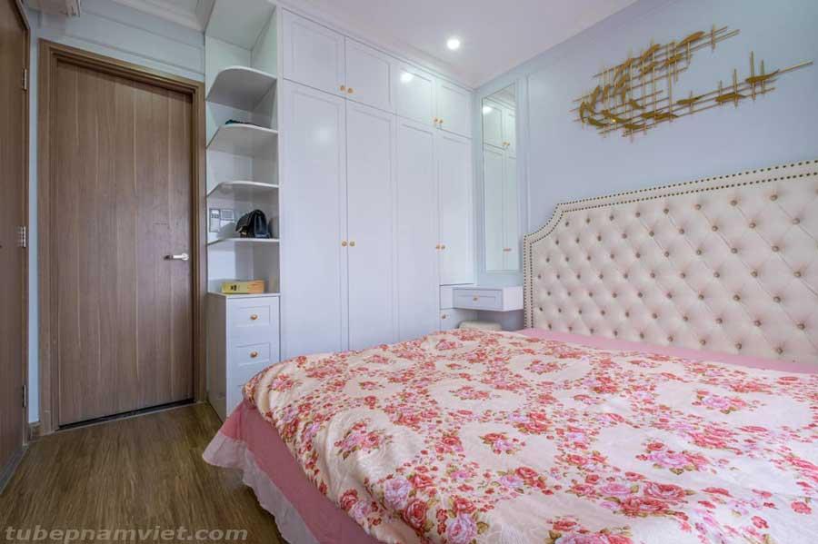 nội thất phòng ngủ - tủ quần áo gỗ áp tường