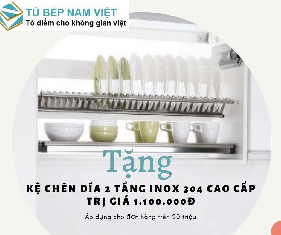 Khuyến mãi tặng kệ chén 2 tầng khi làm bếp tại Nam Việt